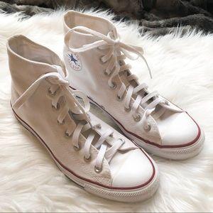 Converse || white high tops men 7 women 9